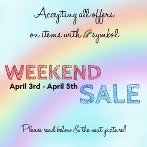 WEEKEND SALE! Name your price & it's yours!!